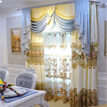 European New Style Gold Jacquard Living Room Designs Valance Curtains - Buy  Curtains Designs,Gold Jacquard Curtains,Valance Curtains Product on ...