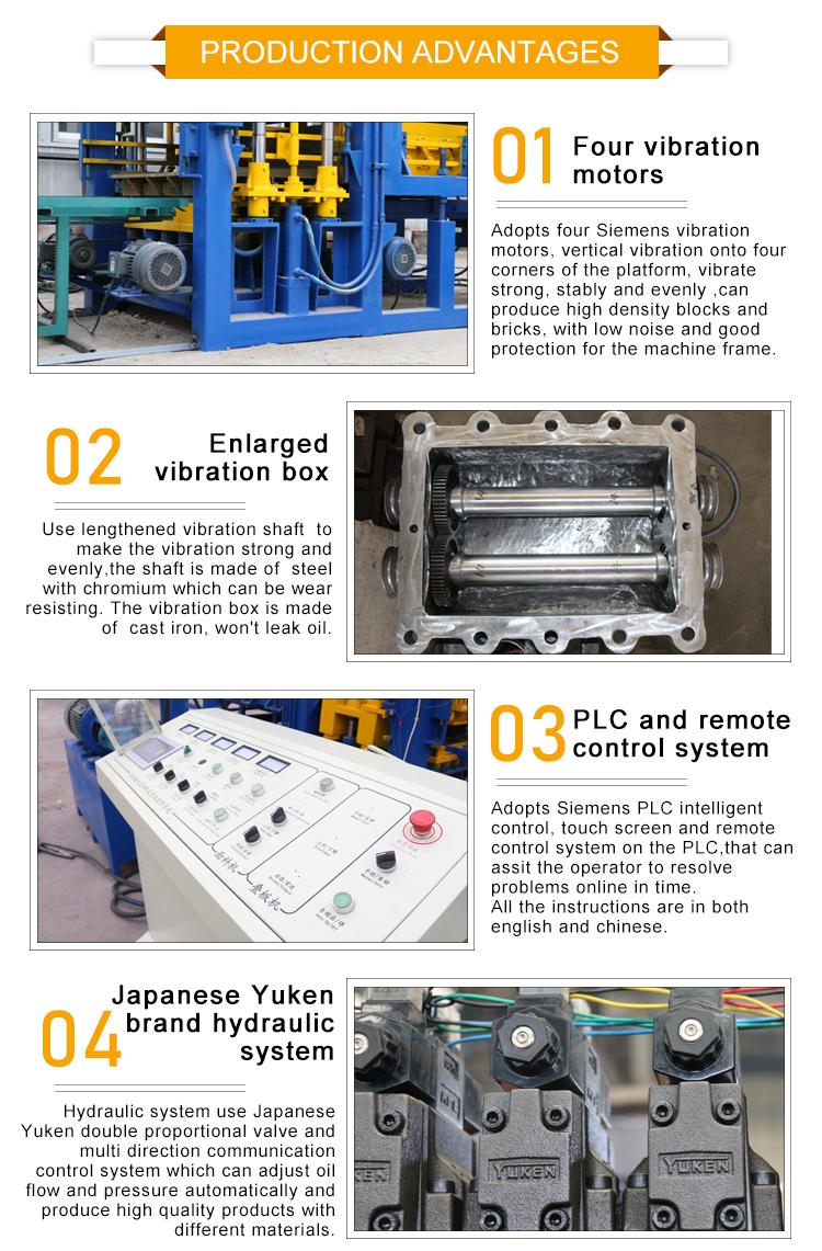 Ferramentas de construção e equipamentos qt8-15 concreto oco bloco que faz a máquina preço filipinas