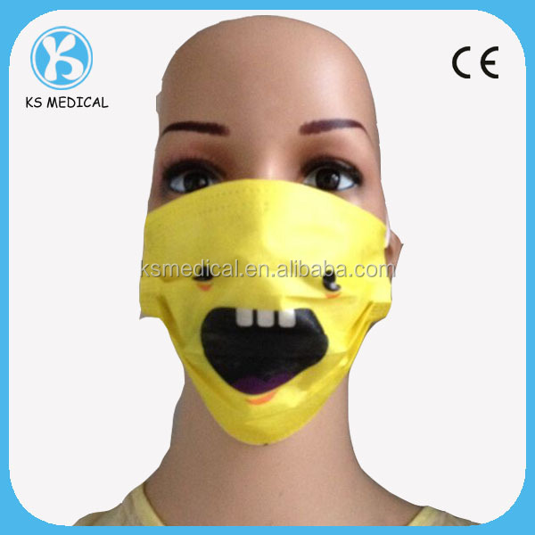 surgical mask with prints