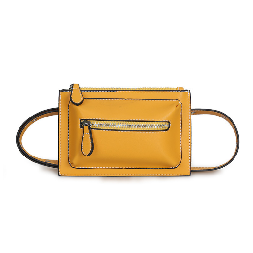 High quality PU leather dual-use waist bag chain chest bag women mobile phone bag fanny pack
