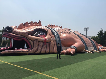 Giant Inflatable Texas Lizard / Giant Inflatable Dinosaur Replica / Giant  Inflatable Crocodile For Amusement Park