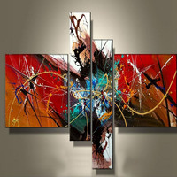 Cheap and Best Quality ShenZhen Dafen 100% Handmade Wall Art Abstract colorful Oil Painting