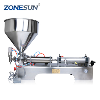 ZONESUN 10-200ml pneumatic volumetric Softdrink liquid filling machine oil water juice honey soap filler supply
