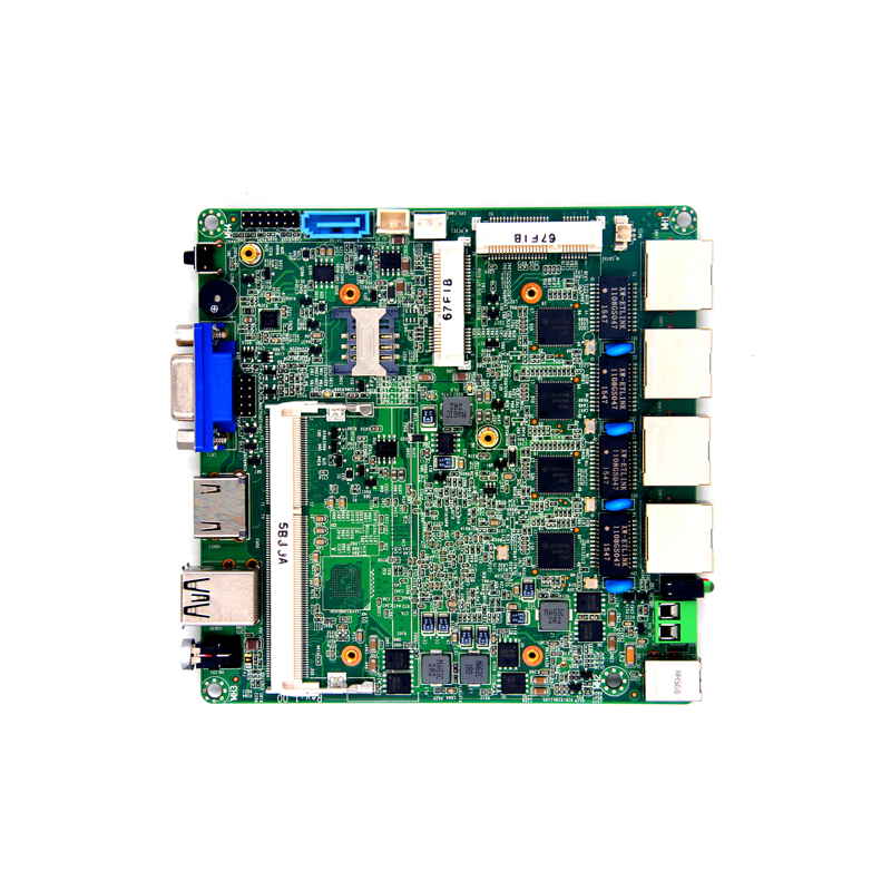 Hot selling nano-itx motherboard Cerelon bay trail J1900 N2900 J1800 N2806 quad core 4 lan router CPU industrial motherboard