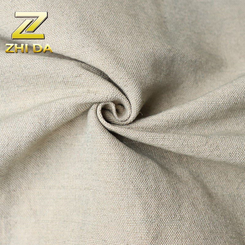 Fabric wholesaler in China plain style 55% cotton 45% linen fabric price for fabric tote