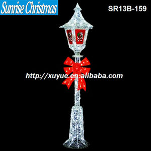2013 christmas items/Outdoor LED lamp-post/new christmas decoration with lights