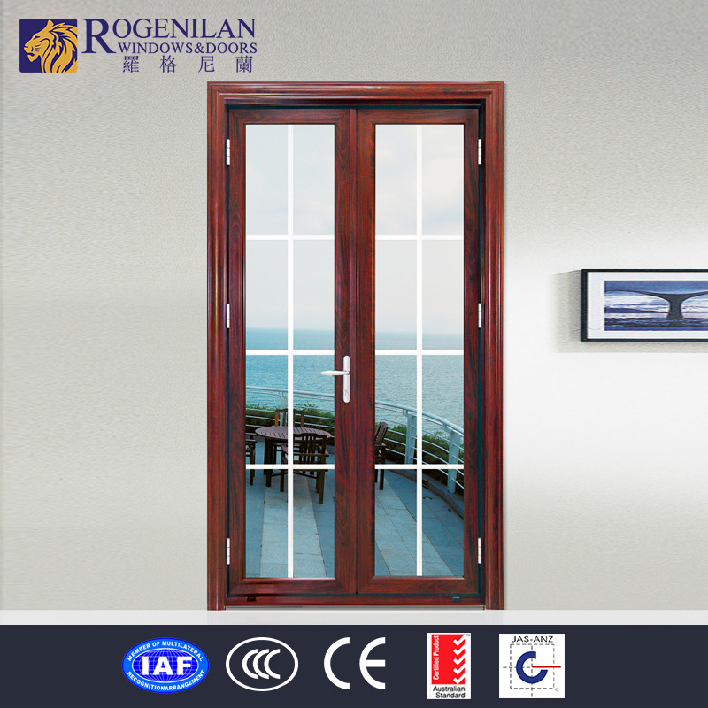Rogenilan Aluminum Frame Frosted Gl Swing Type Interior Office Door With Window