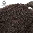 Unprocessed 4C Afro Kinky Curly Human Hair Weave for Black Women Beauty and Hair Salon Natural Black 100g/one