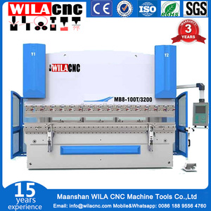 W67Y/K-100T/3200 type of hydraulic press brake machine