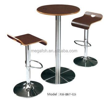 New Design Swivel Round Coffee Bar Table And Chair Bar Set(foh ...