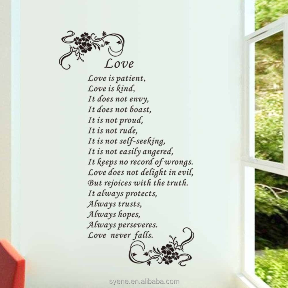 Manufacturer love is patient love is kind wall art love for Living room 6 letters
