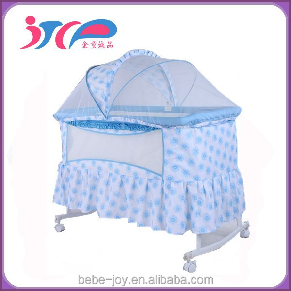 CE& N/A approved modern style TC fabric& Steel Frame Canopy Canopy with mosquito net baby crib /baby bed/ cradle