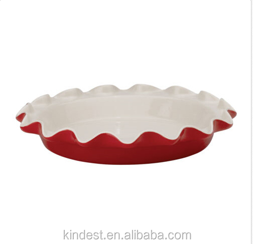 High quality ceramic pie plate, ceramic baker