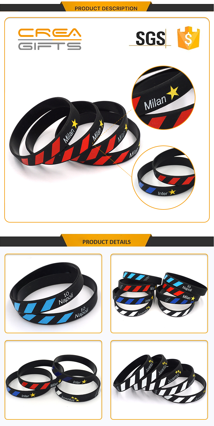 Hot Sale Custom 3D Logo Cheap Bulk  Silicone Wristband Band Maker Rubber Bracelet For Sale
