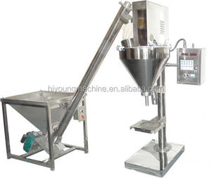 factory supply automatic auger powder filler machine 50L hopper match with powder elevator