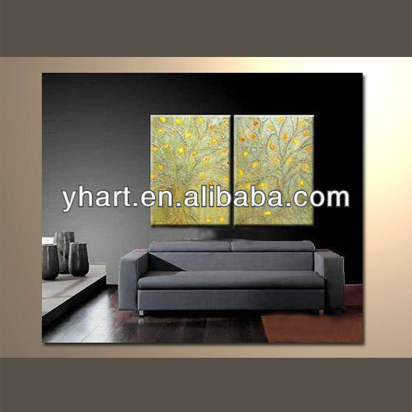 Hot sell Stretched custom design wood frame painting