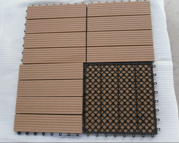 durable eco and easy to install wood plastic composite wpc interlocking removable floor tiles. Black Bedroom Furniture Sets. Home Design Ideas