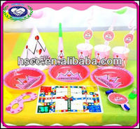 Pink Princess Baby Girls 1st Birthday Party Supplies Set