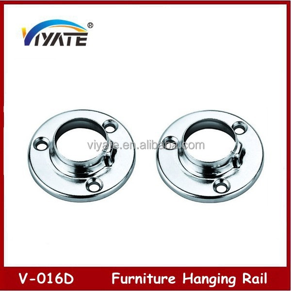 Furniture Hanging Rail Round Steel Tube Connector Cabinet Hanging Rail