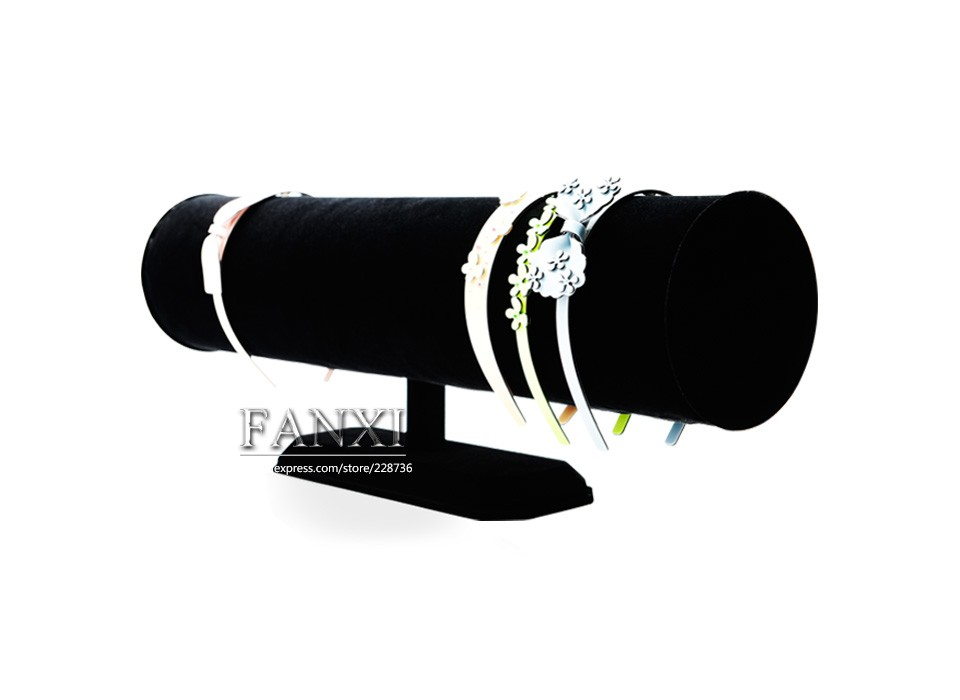 Fanxi China Supplier Black Color T Bar Jewelry Display Stand ...