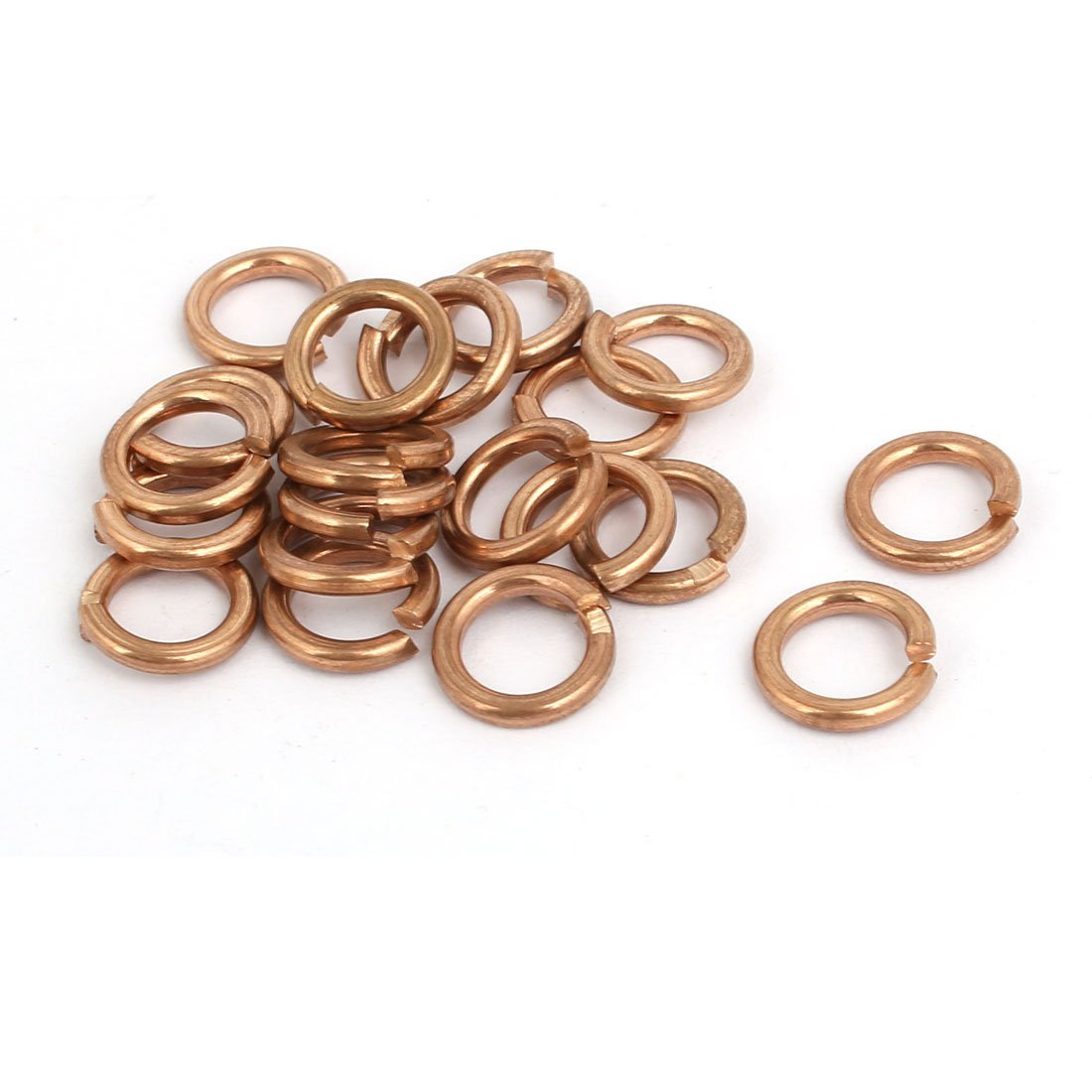 uxcell 6mm Inner Diameter Split Lock Spring Washer Gasket Copper Tone 20pcs