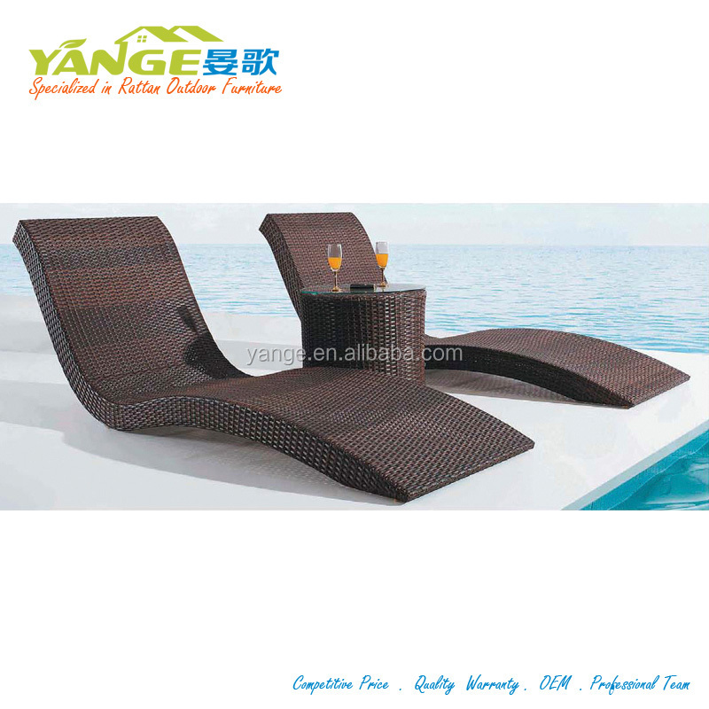 Hotel outdoor pool furniture cheap beach rattan wicker furniture