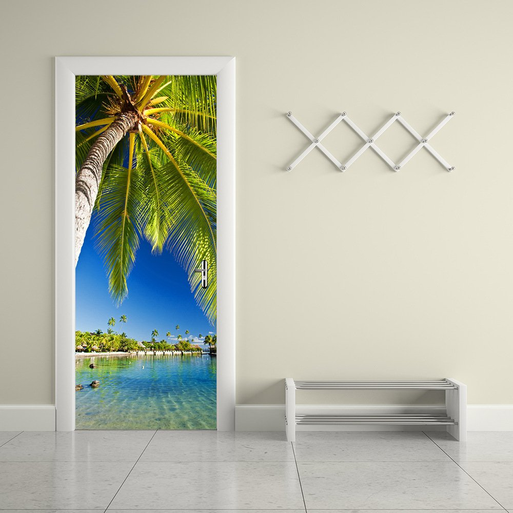 Gentil Get Quotations · Door Sticker Wall Murals 3D Mural Wallpaper Mural Coconut  Tree Door Mural Art Sticker Door Wall