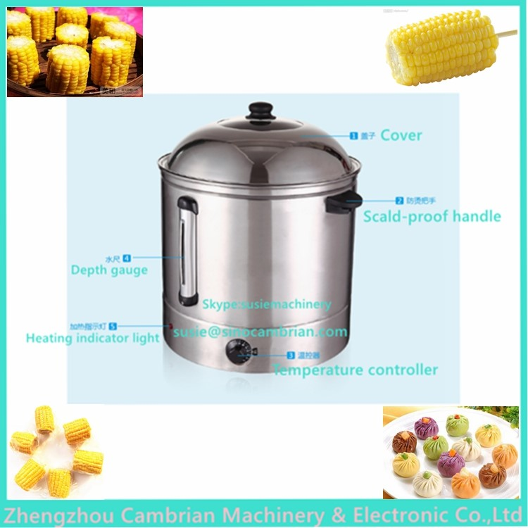 School used large capacity 48L restaurants essential sweetcorn steamer with auto warmer