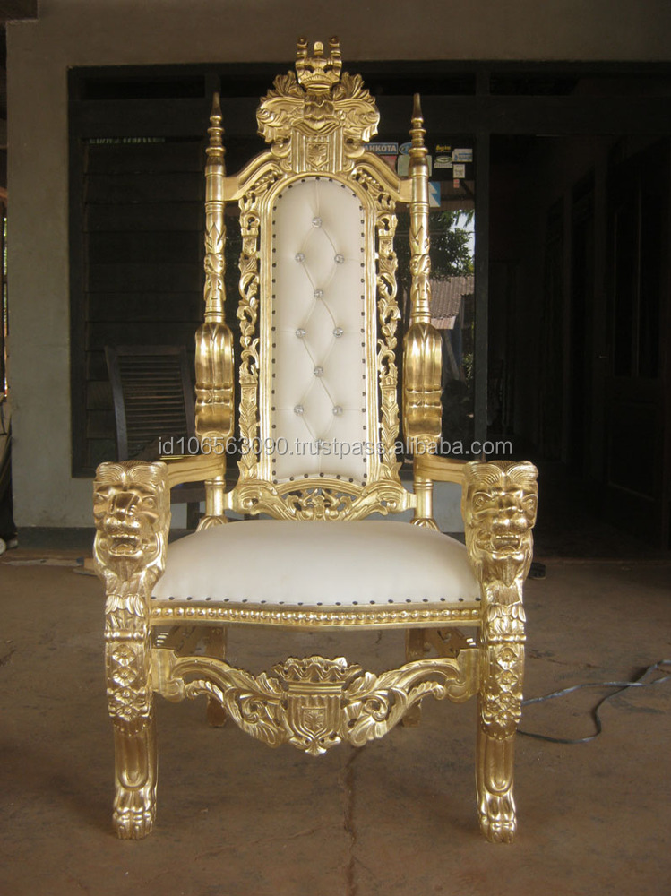King Throne Chair Gold   Buy Antique Throne Chairs,Antique King Throne Chair,Wooden  Throne Chair Product On Alibaba.com