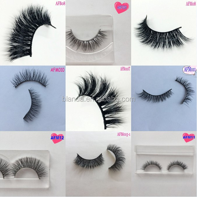 Bulk False Eyelash Packaging Real Siberian 3D Mink Lashes Eyelash Extension Fake eyelashes in stock