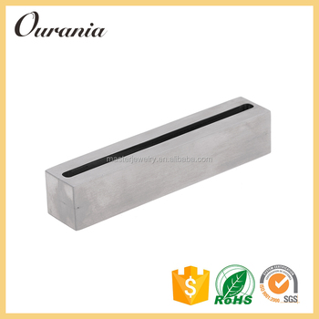 unique desktop square stainless steel business card holder for desk - Business Card Holder Desk