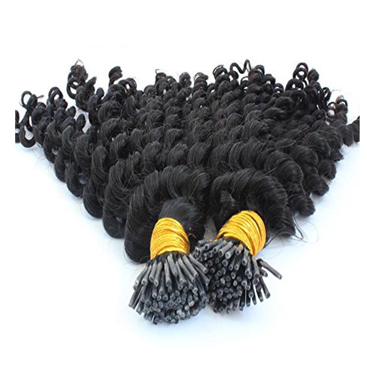 """15 """"1 g/s 100 s Crépus Bouclés Bâton Brésilien Kératine Je Pointe Extension De Cheveux Humains"""