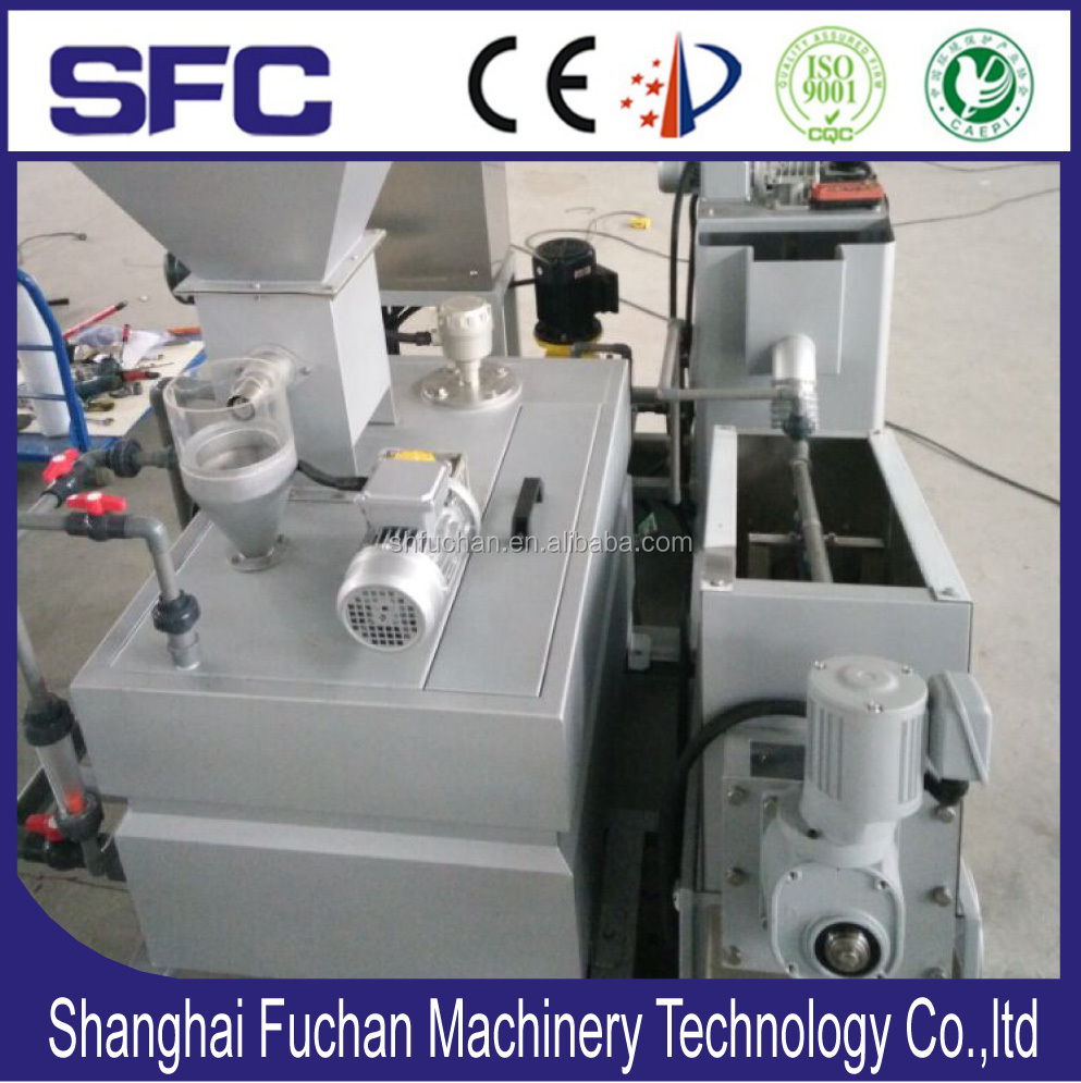 Trial Test Sludge thickener & dewatering /dehydrator Screw Press for oily &grease slurry treatment