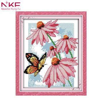 La Nkf De Mariposas Flores Patrones De Bordado A Mano De Todos Para