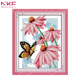 NKF Butterflies over flowers hand embroidery patterns all cross stitch for online wholesale