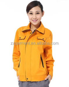 2019 OEM Unisex Yellow Workwear Industrial Uniform Jacket with Waterproof and Windbreaker Uniform Jackets
