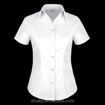c3a812ad762 White Women Shirt Office shirt Unique Ladies Work Shirt from china supplier