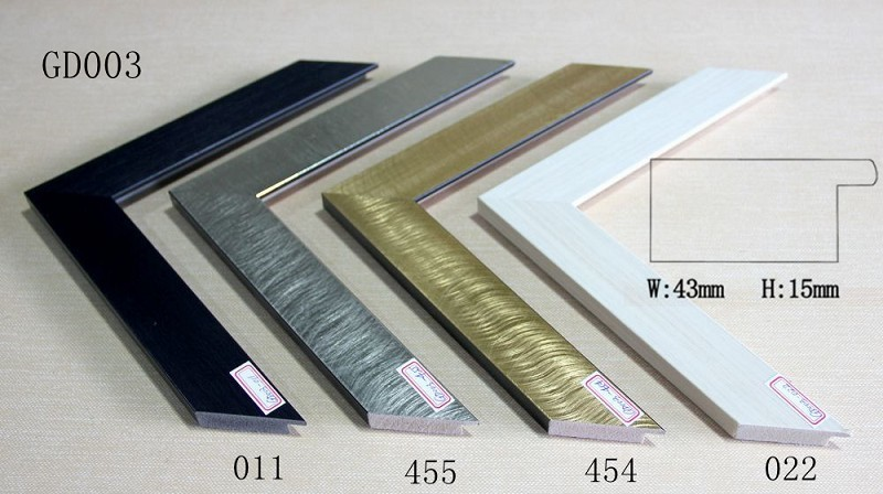 GD003 W43 * H15mm diseño único metálico acabados marco decorativo ...