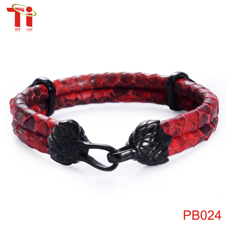 Aohua Genuine Python Bracelet Men High Cl Red Cord For Watch Custom Leather To Skin