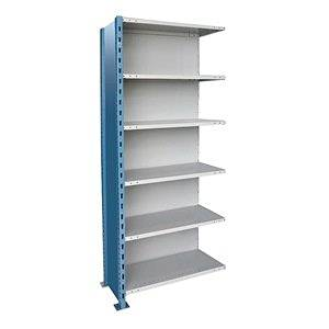 H Post High Capacity Closed Add On Unit W 6 Shelves 48 X 18 D 87 187 1 Lbs