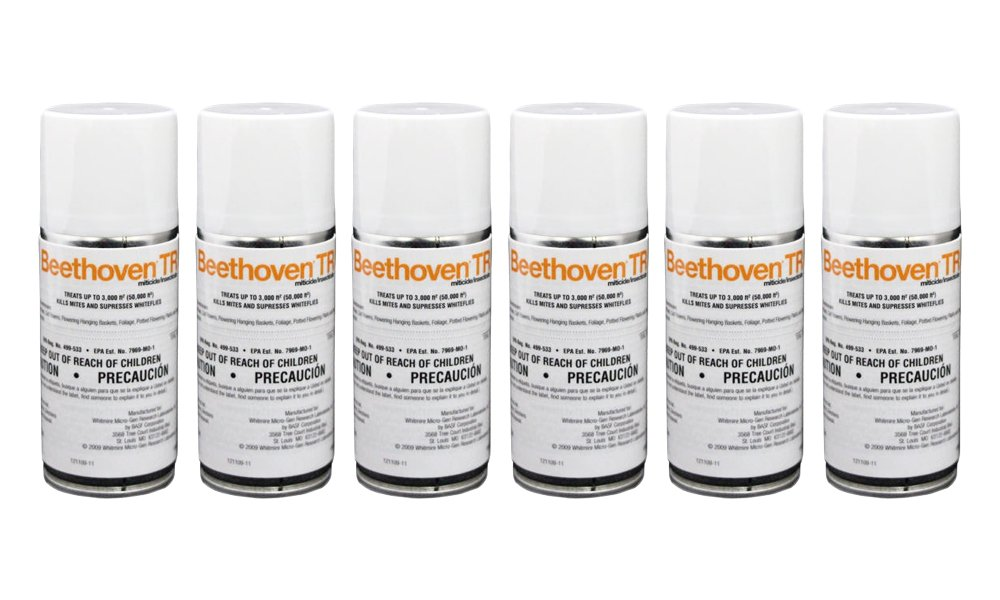 Beethoven TR 2 oz (6 Count) Total Release Insecticide Miticide Aerosol Fogger Spider Mite Killer Bomb Whitefly Mites Pest Control
