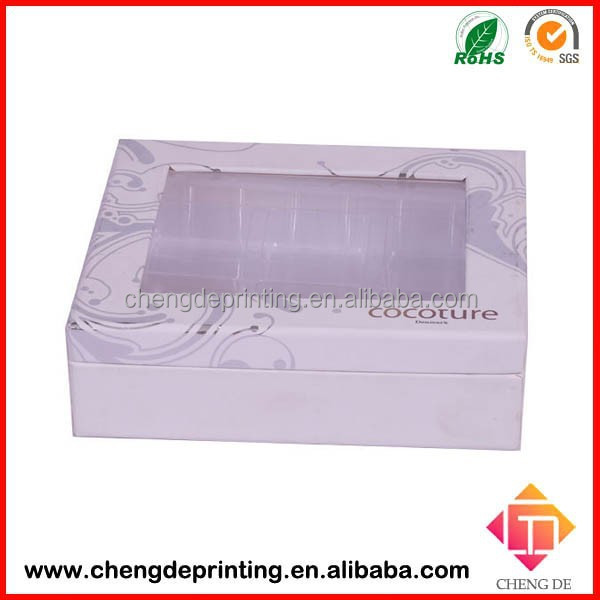 Newest scarf gift box package with transparent pvc window