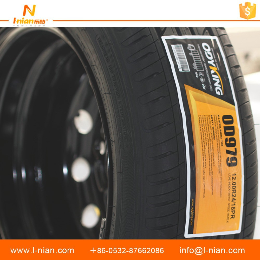 high quality custom PP tire labels self adhesive tyre stickers marking label rubber tyre label