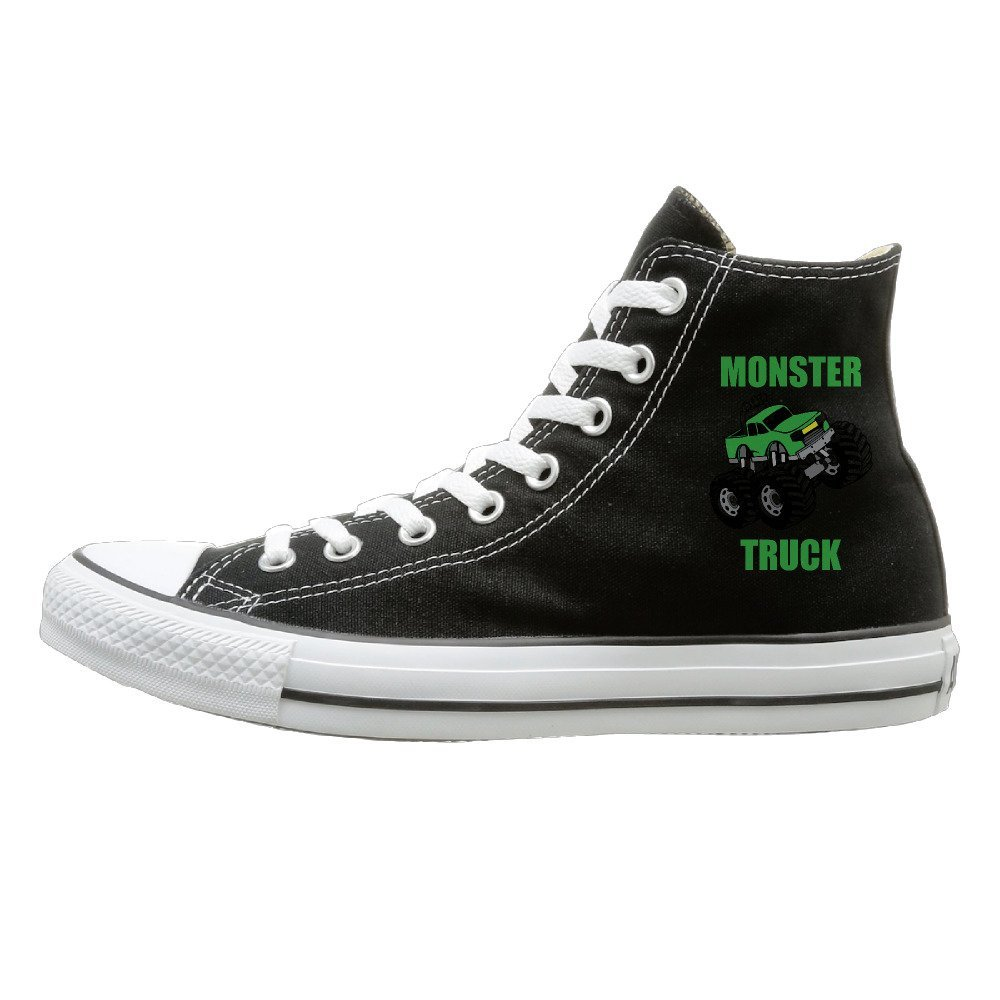 NFCGH Monster Truck Canvas Shoes Sneakers Slip On Shoes Black