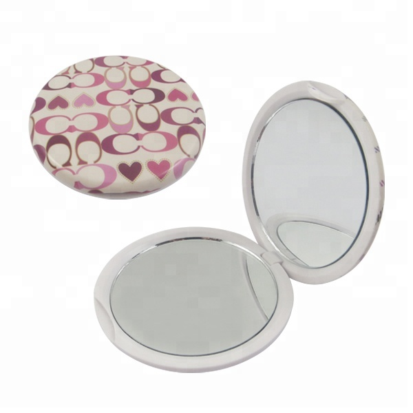 Two Sides Plastic Small Personalized Pocket Mirror For Gift