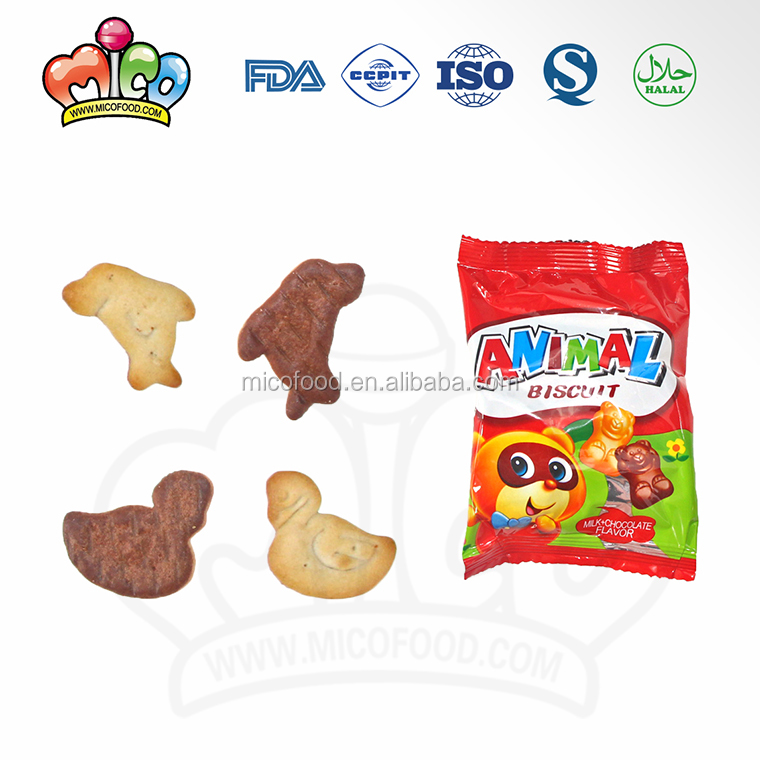 animal shaped milk chocolate biscuit