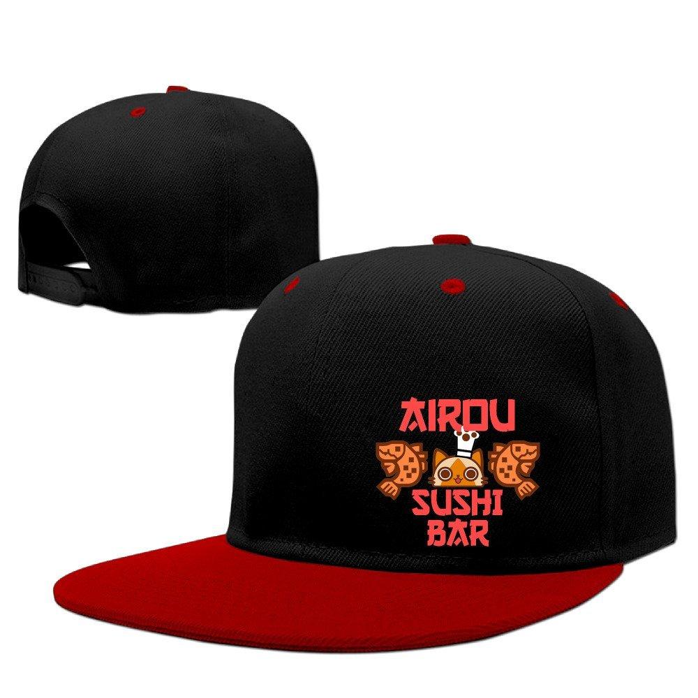 Velcro Cotton Baseball Caps Hat Airou Sushi Bar Monster Hunter