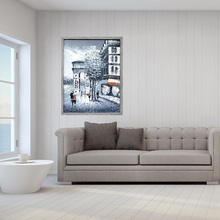 colorful frame canvas oil painting designs town famous artist abstract painting