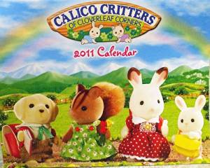 Calico Critters of Cloverleaf Corners Collectible Calendar: 2011