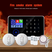 2019 Newest Hotsale Fire Smoke alarm system WIFI+GSM+Smoke+Siren+IP Camera Fire House alarm system BL-6600